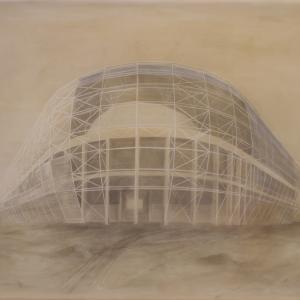 Cím nélkül 23700(FTC Stadion), 70x90 cm, 2014