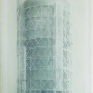 Cím nélkül00431_Sztálinvárosi víztorony, 60x40 cm, 2015