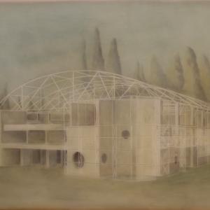 Cím nélkül 5500(Győri Aréna), 70x90 cm, 2014