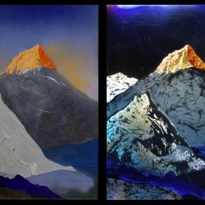 Golden Hill off/on, 129x98 cm, 2016