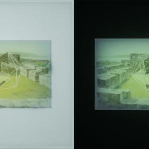 UntitledBG34, off/on, 50x50 cm, 2016