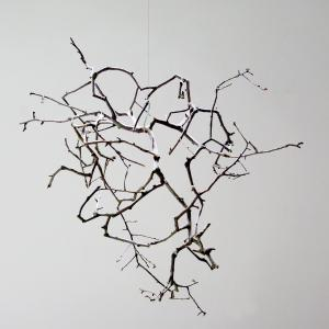 Peter Matyasi: Constructed Tree, pruned branches, glue, 60×80×40cm, 2018, Herbarium exhibition