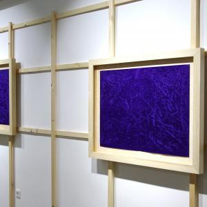 Mátyási Péter: Metszet 1-2., indigó, 80×103cm, 2 db, 2018, Herbárium kiállítás